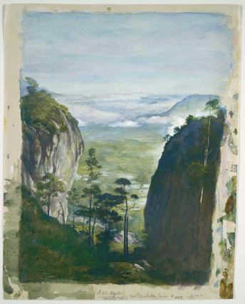 John La Farge 1835-1910 View in Ceylon, near Dambulla 1891