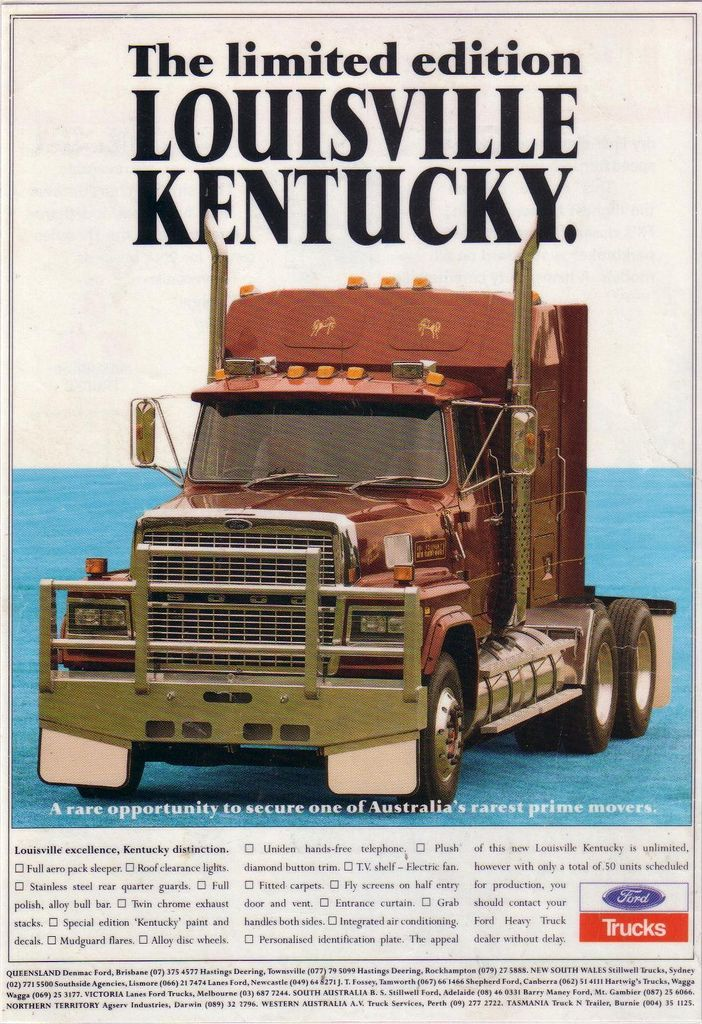1992 Ford Ltl 9000 Louisville Kentucky Truck Ad Trucks Ford Trucks Big Ford Trucks