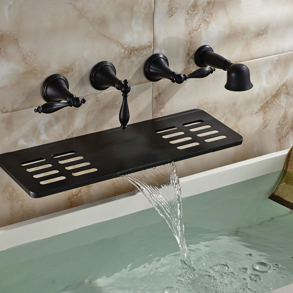 Waihilau Oil Rubbed Bronze Finish Water Fall Bathtub Faucet with