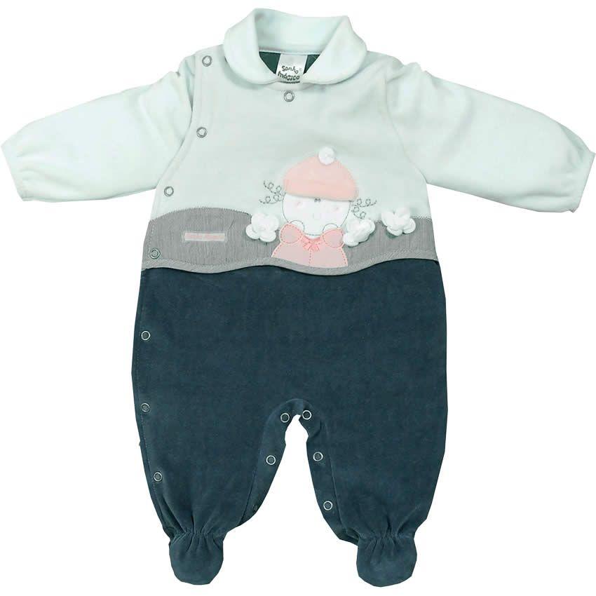 Macacão Recém Nascido e Bebê Menina em Plush Verde - Sonho Mágico    764  Kids  99734ffae22
