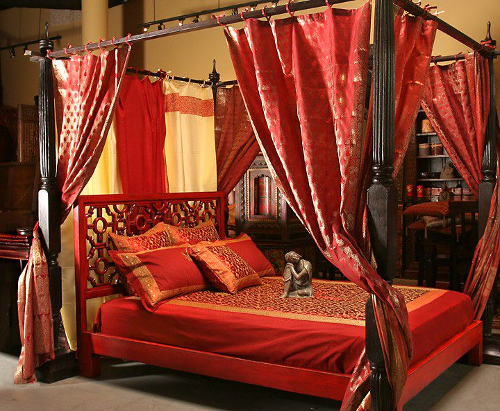 Middle Eastern Bohemian Indian Exotic Canopy bed there's just something  sexy about a canopy ...