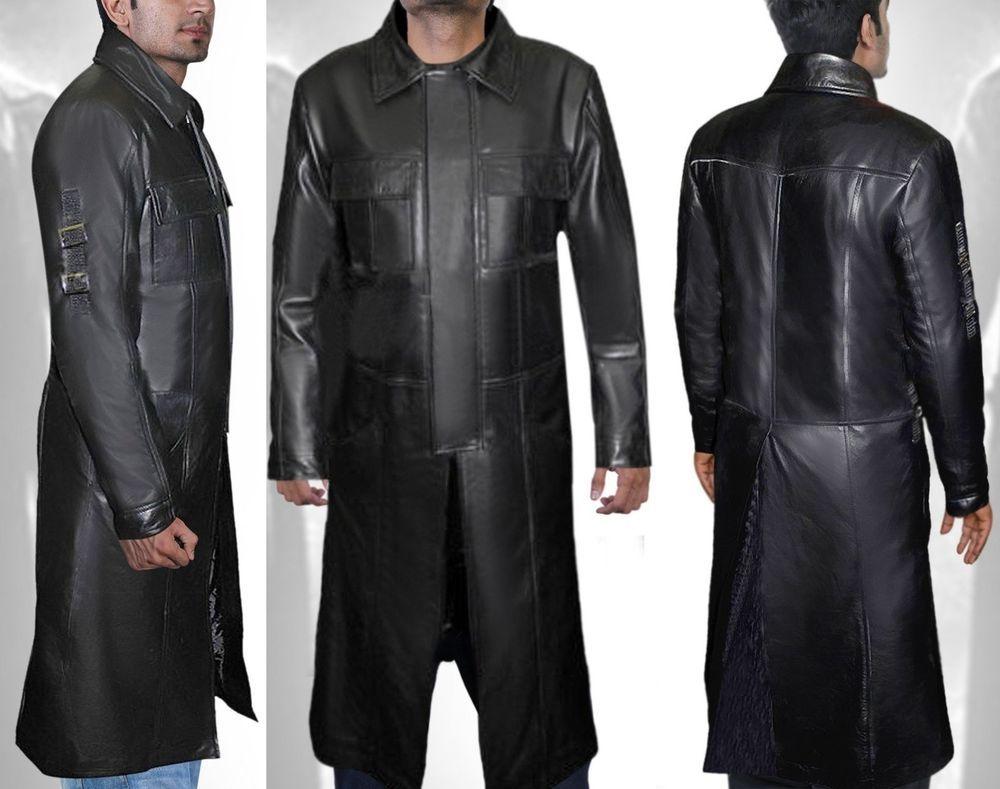 The Punisher Thomas Jane Frank Castle Trench Leather Coat Handmade Trench Mens Leather Coats Leather Trench Coat Elegant Jacket [ 789 x 1000 Pixel ]