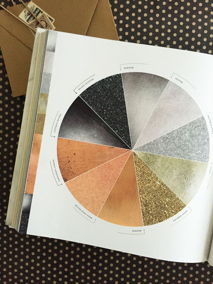 weddings in color metallic color wheel weddings for book