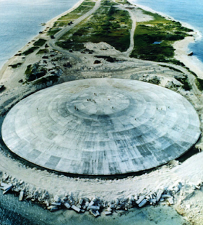 Atolón Enewetak - Islas Marshall   CACTUS DOME: UNA ENORME ESTRUCTURA DE HORMIGÓN CONSTRUIDA SOBRE CRATER NUCLEAR
