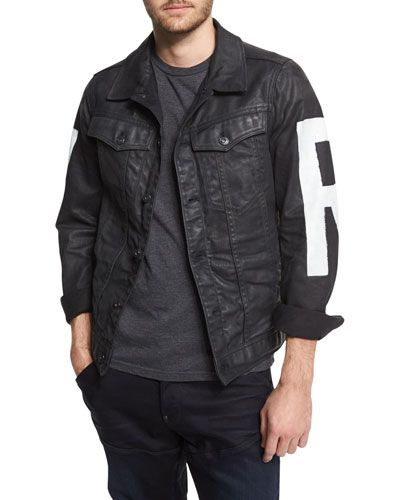 6306e3753 N3VWP G-Star RAW Painted Denim Jacket, 3D Dark Aged | Coats ...