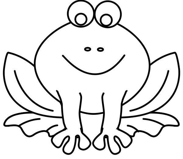 frog smiling line art