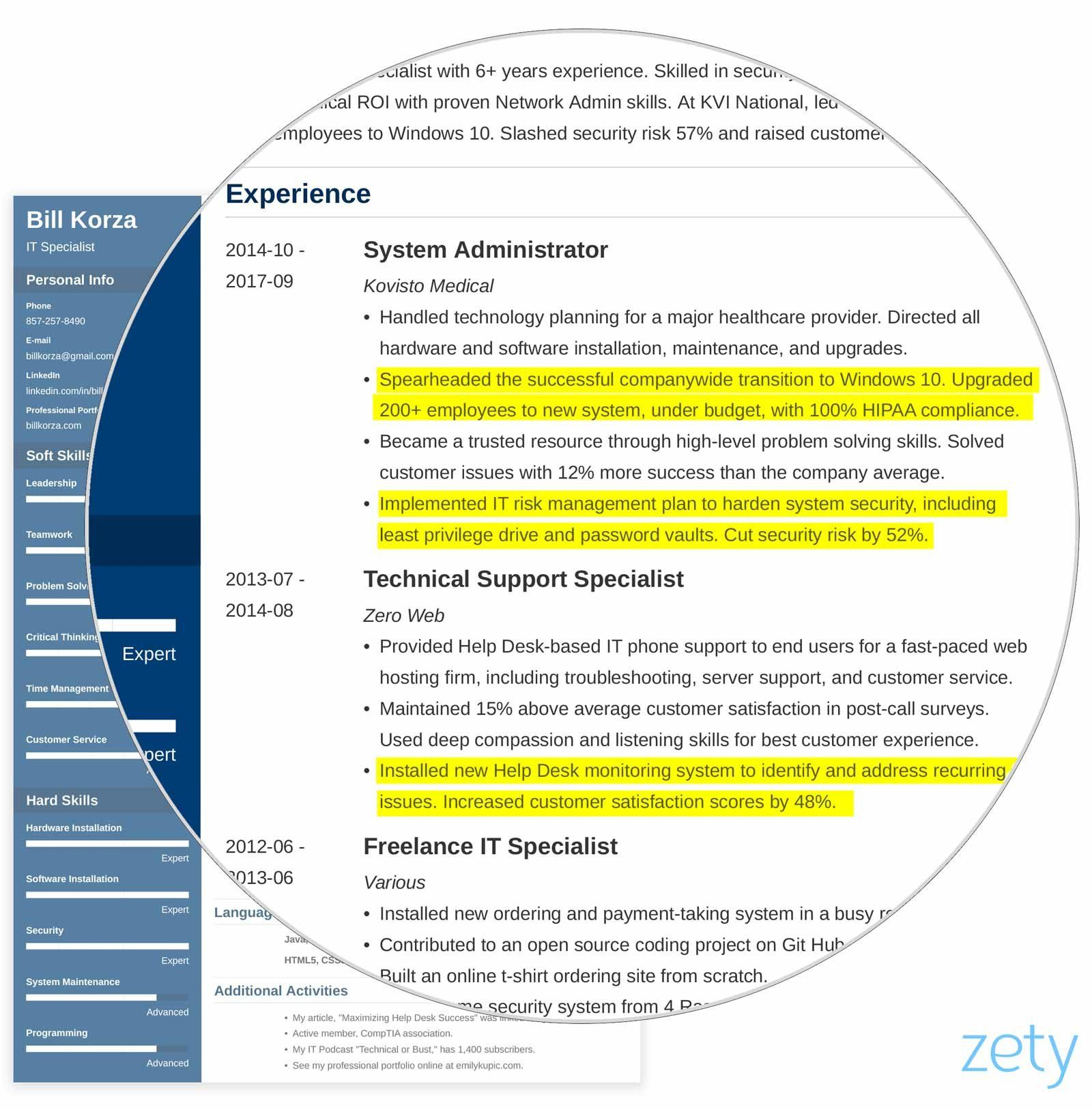 Professional Resume Profile 19 Examples Statements Tips