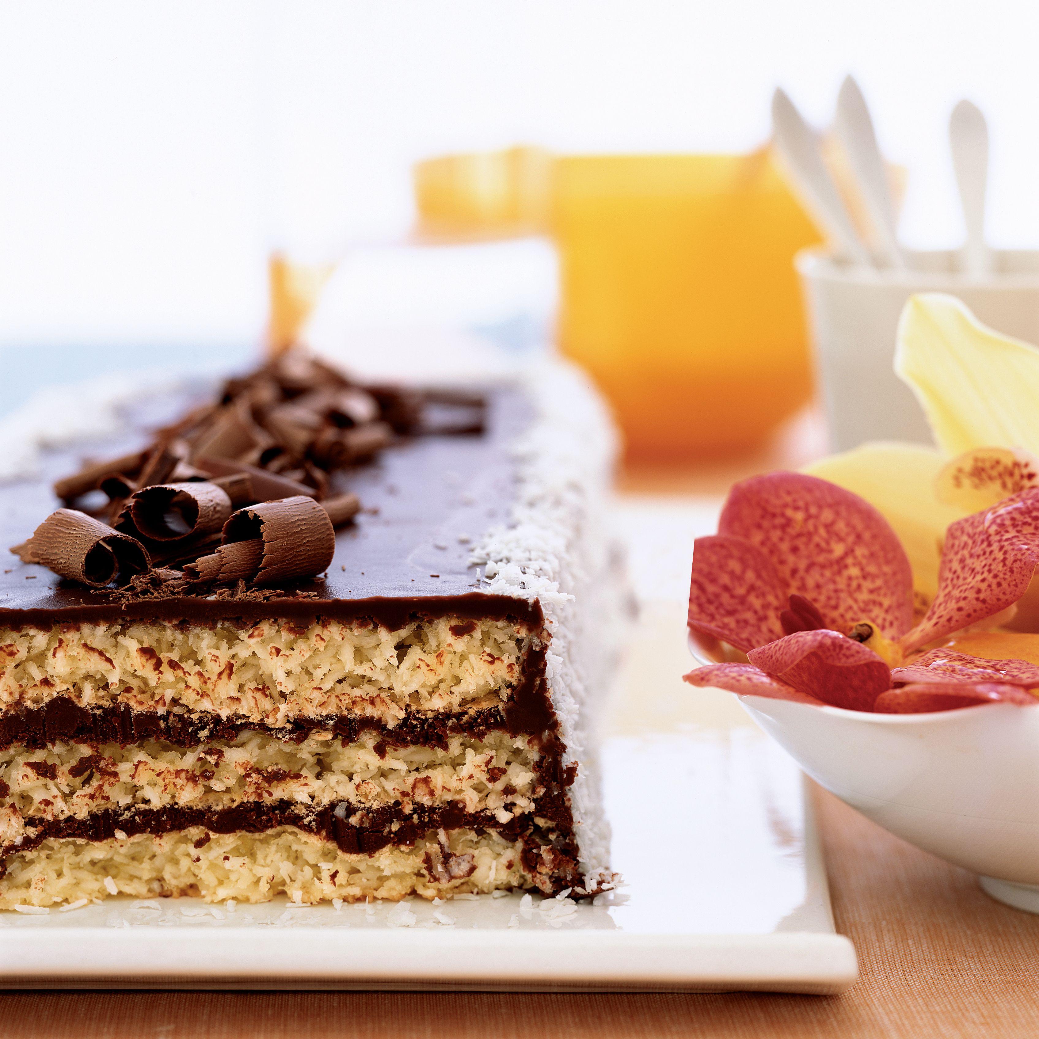 Bittersweet chocolate tweed cake