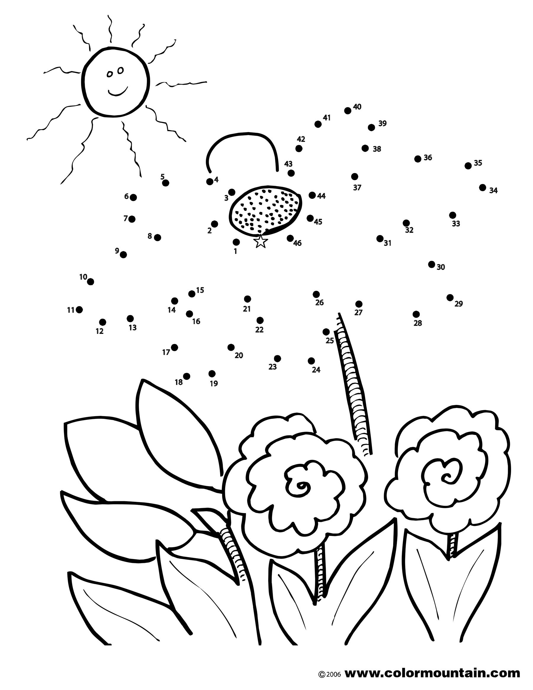 Flower Activity Color Page Coloring Page Butterfly Coloring Page