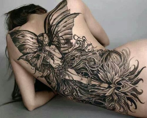Back Fairy Tattoo