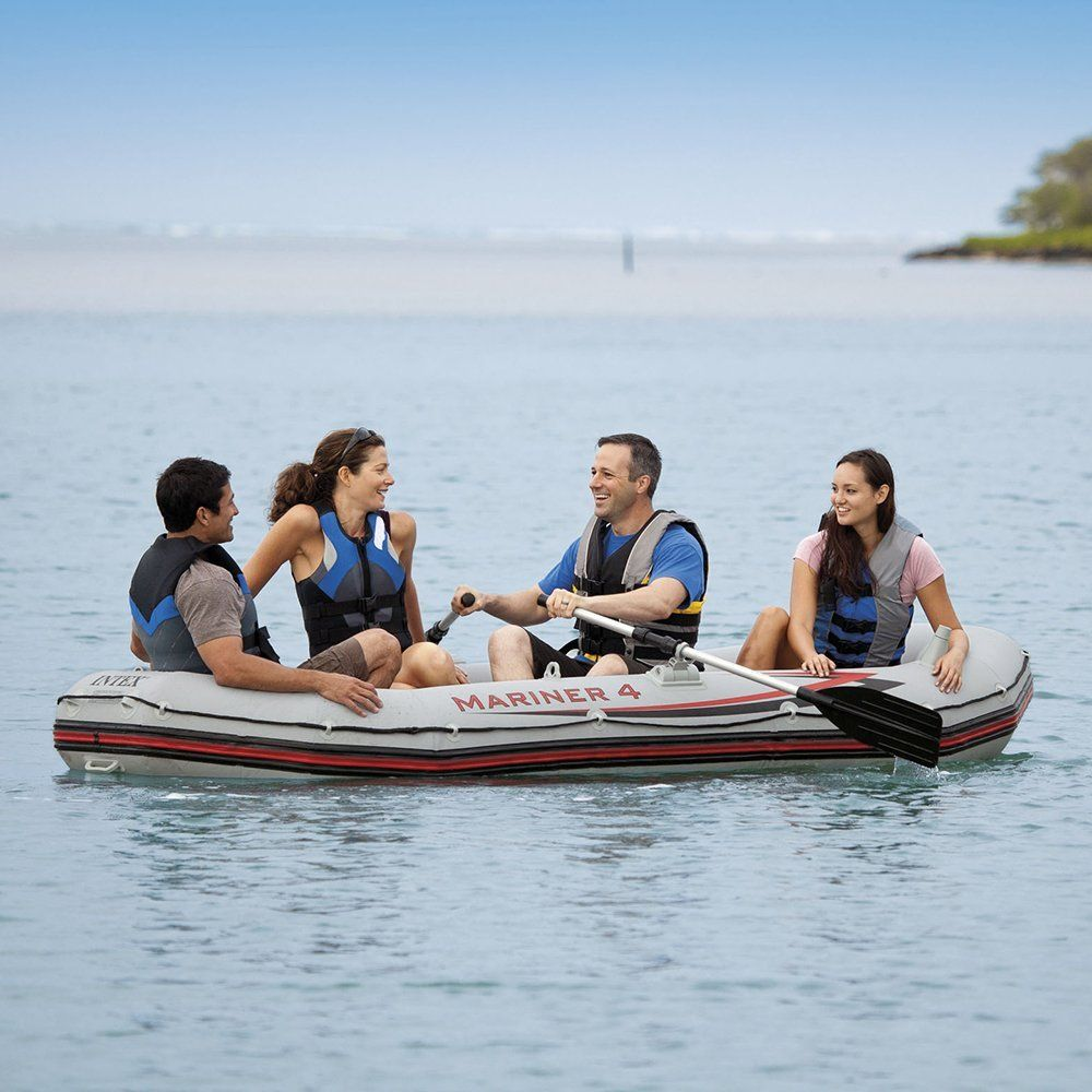 Intex Mariner 4 4 Person Inflatable Boat Set With