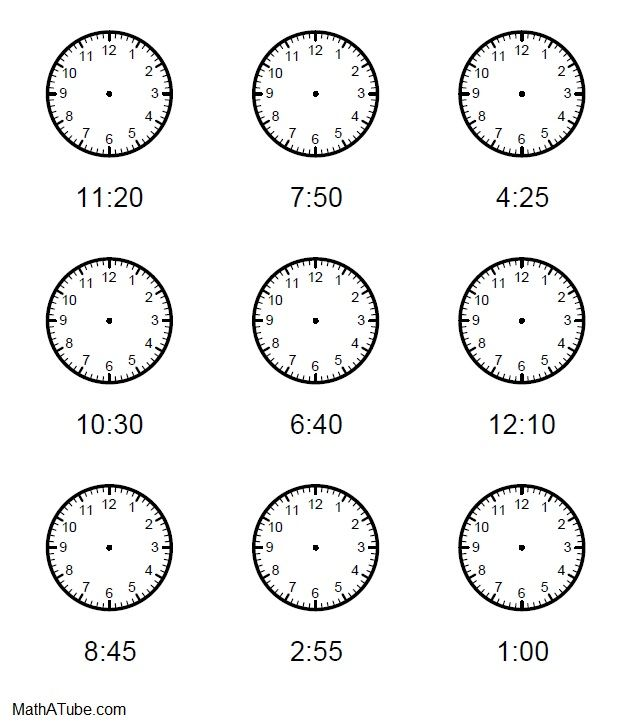 It's just a graphic of Printable Clock Hands pertaining to outline