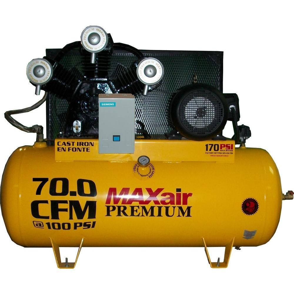 Premium Industrial 120Gal. 15 HP Electric 208Volt Single