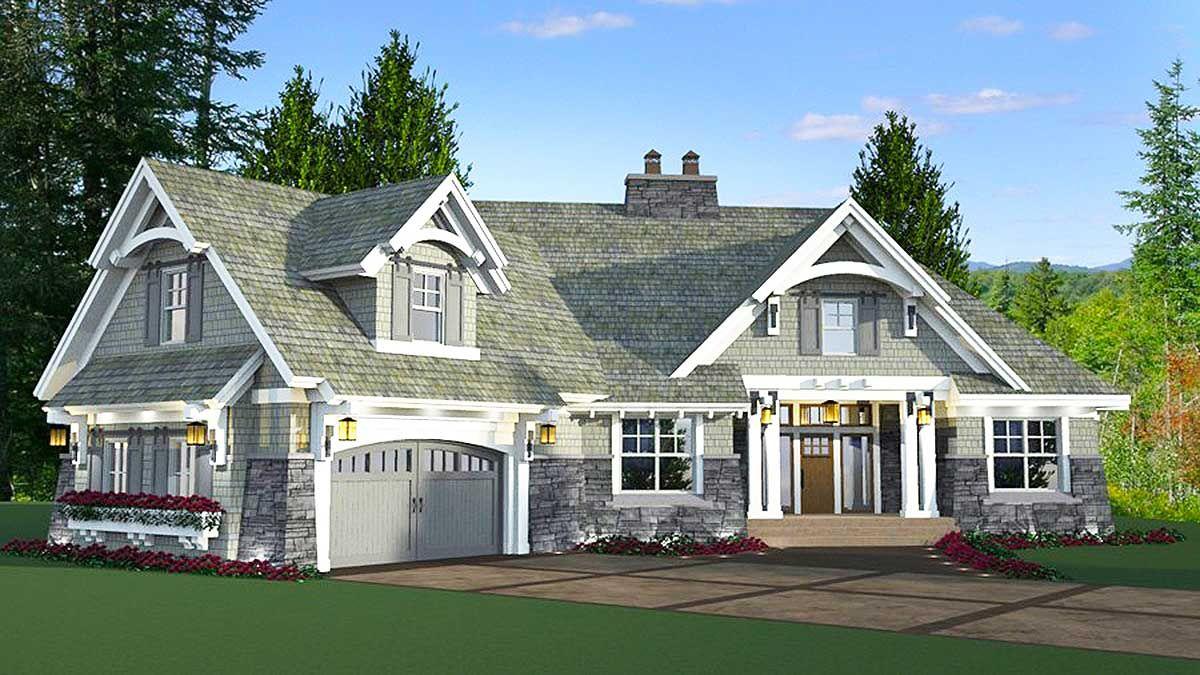 Plan 14649RK Exciting Craftsman House Plan Plan
