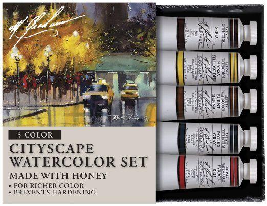 M Graham Tube Watercolor Paint Cityscape 5 Color Set 1 2 Ounce