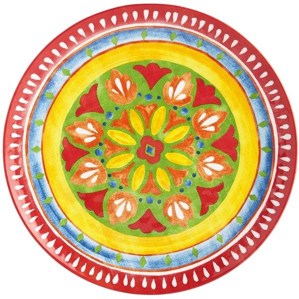 Pier 1 Imports Multi-colored Carnival Brights Melamine Dinner Plate ($6.95) ? liked  sc 1 st  Pinterest & Pier 1 Imports Multi-colored Carnival Brights Melamine Dinner Plate ...