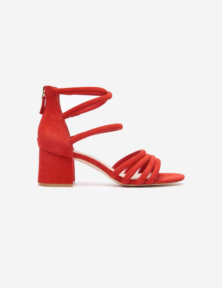 ef1915a524a Sandals With Straps And Square Heels - Shoes - Sandro Paris
