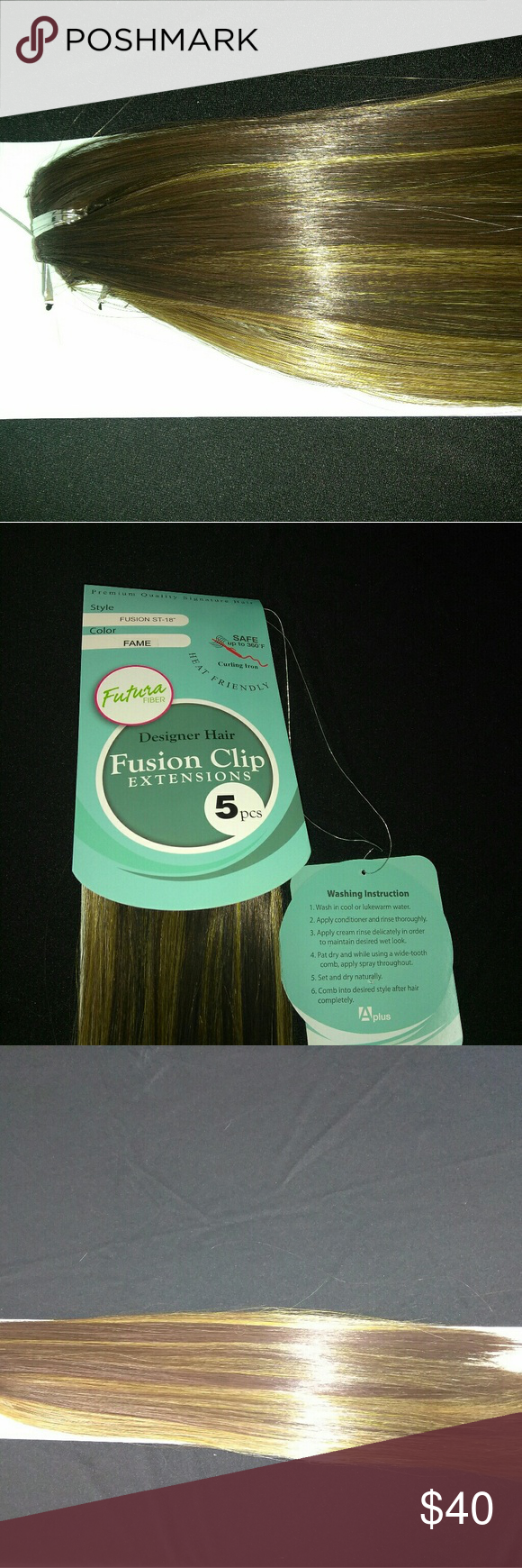 114 Fusion Clip 5pcs Hair Extension Hair Extensions Extensions