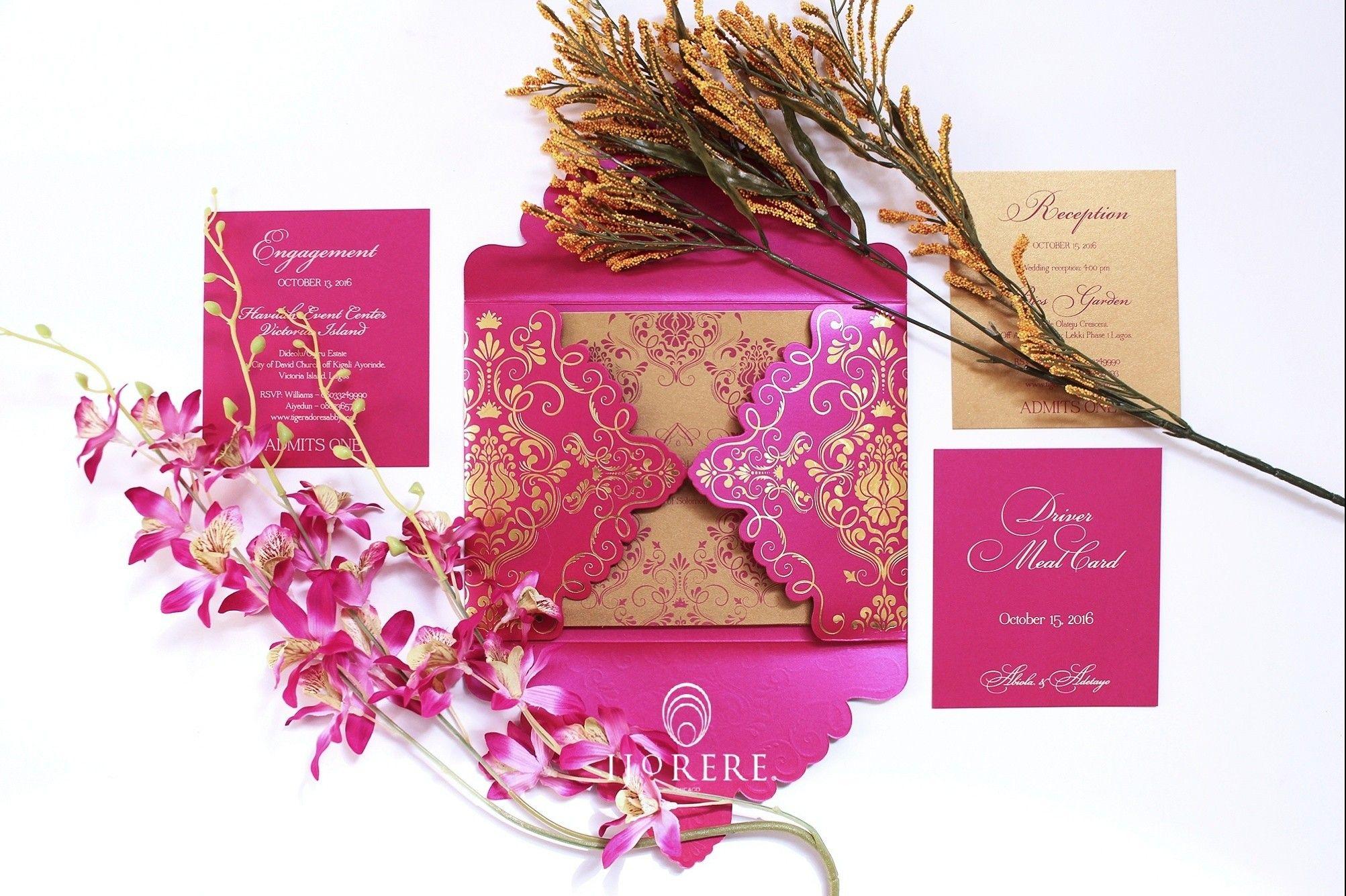 Damask wedding invitation south asian wedding invitations