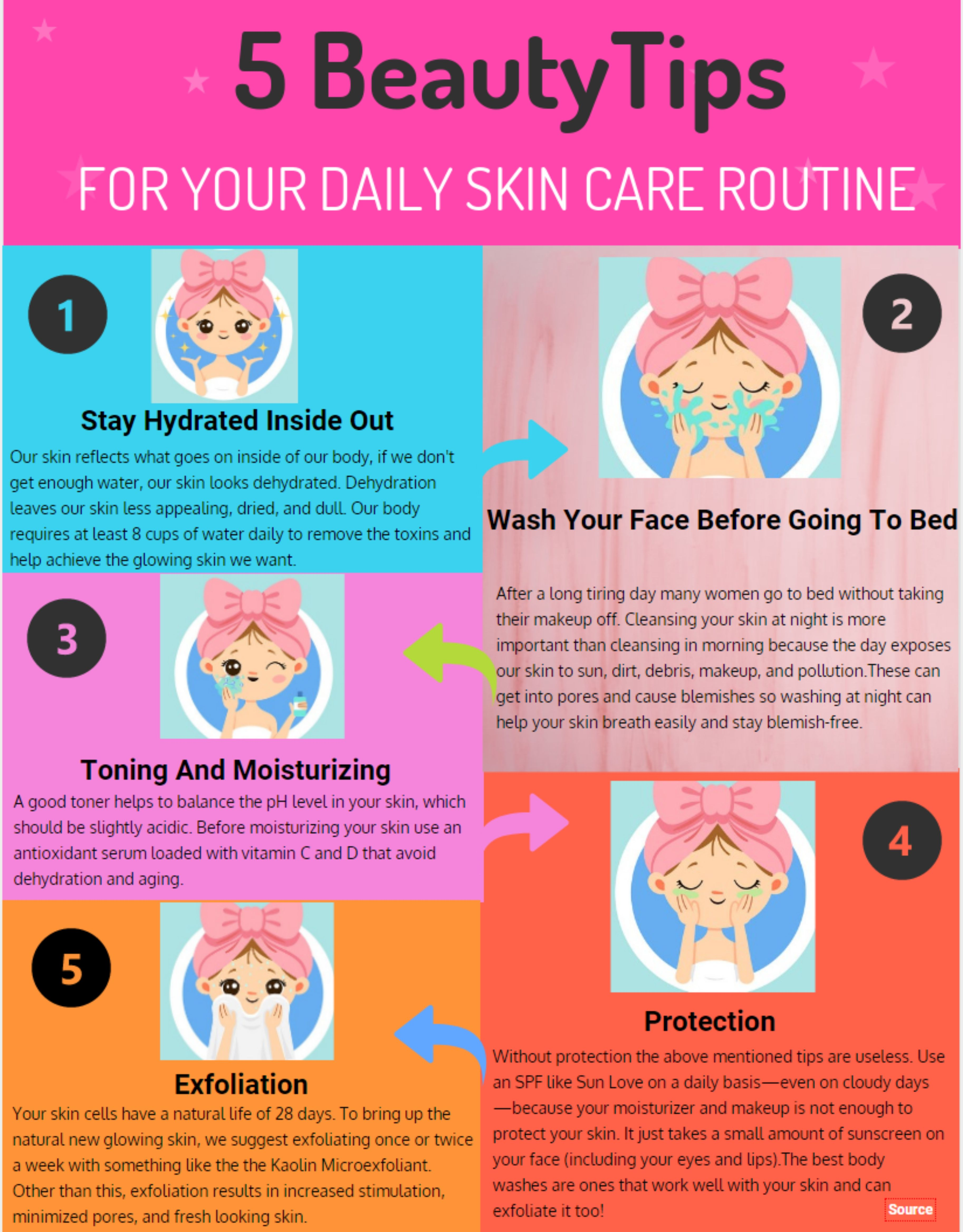 10 Beauty Tips For Your Daily Skin Care Routine.!  Daily skin care