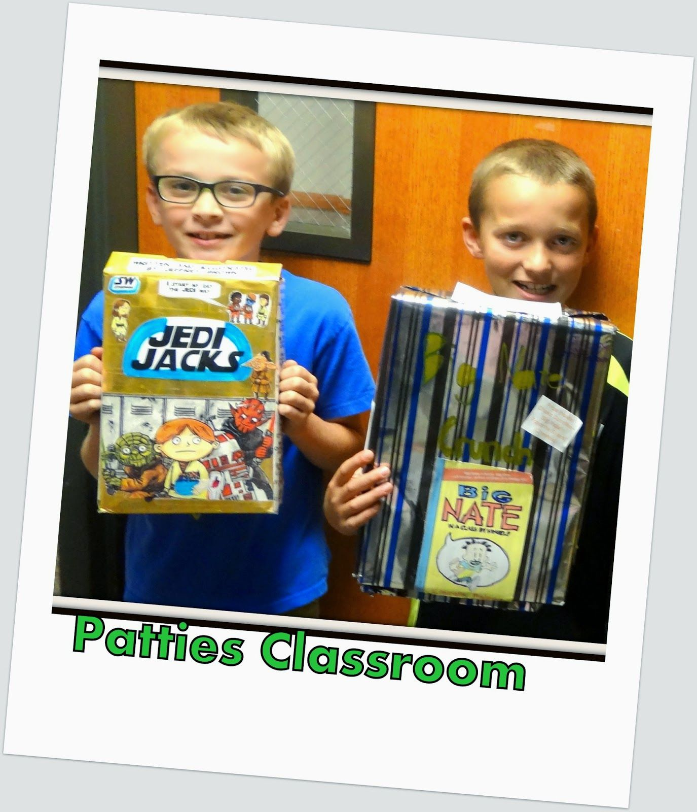 Patties Classroom Cereal Box Book Reports
