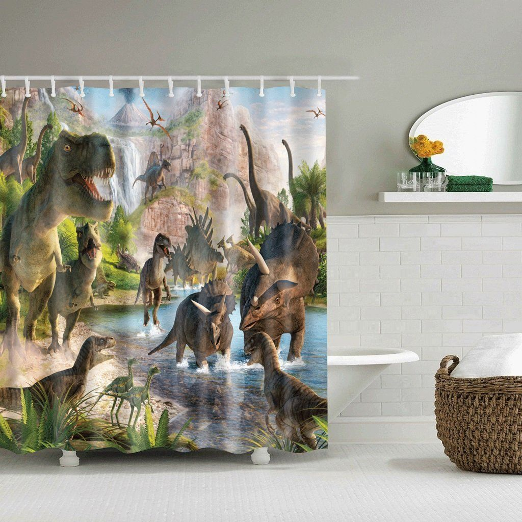 Dinosaurier Vorhang coole Deko für das Kinderzimmer