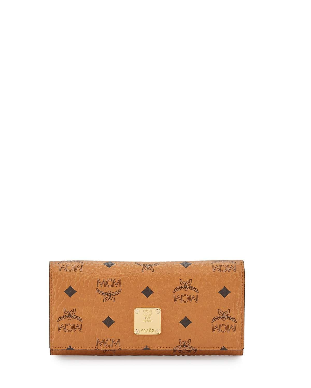 Heritage Large Tri-Fold Wallet, Cognac