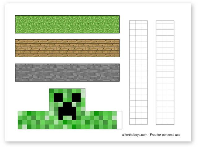 Free Printable Minecraft Easter Egg Stands All For The Boys Minecraft Easter Eggs Easter Eggs Minecraft