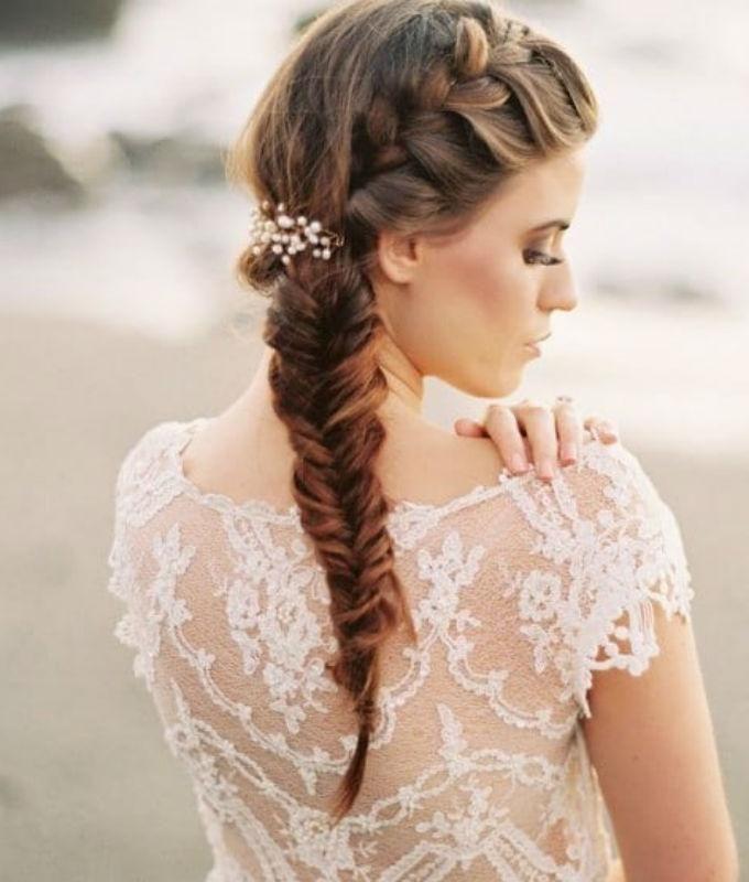 Exquisito peinados de trenzas modernas Colección De Cortes De Pelo Tendencias - 20 peinados con estilo para novias modernas; ¡te ...