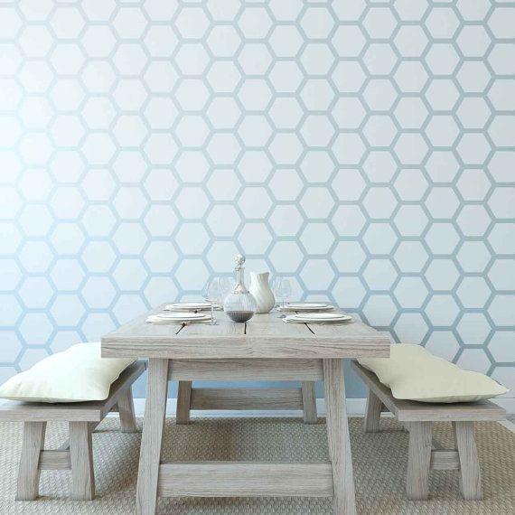 Honeycomb Wall Stencil Reusable | Waben, Schablone und Wände