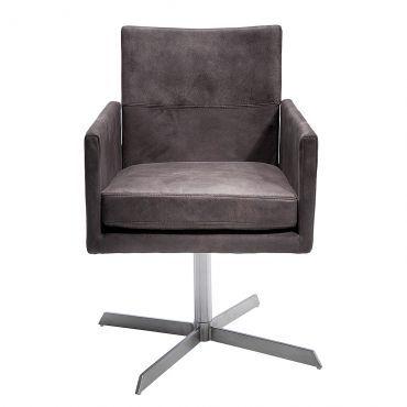 Esszimmer drehstuhl mit armlehne  Drehstuhl Dialog - Microfaser Braun | Esszimmer | Pinterest ...