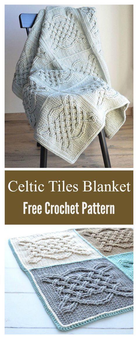Celtic Tiles Blanket Free Crochet Pattern Pinterest Free Crochet