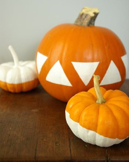 Geometric pumpkins things that inspire Pinterest Modern crafts - natural halloween decorations