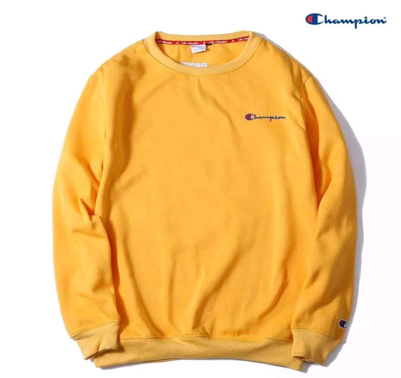 Champion Sweatshirt Yellow Sweatshirt Champion Sweatshirt Collar Sweater [ 1327 x 1409 Pixel ]
