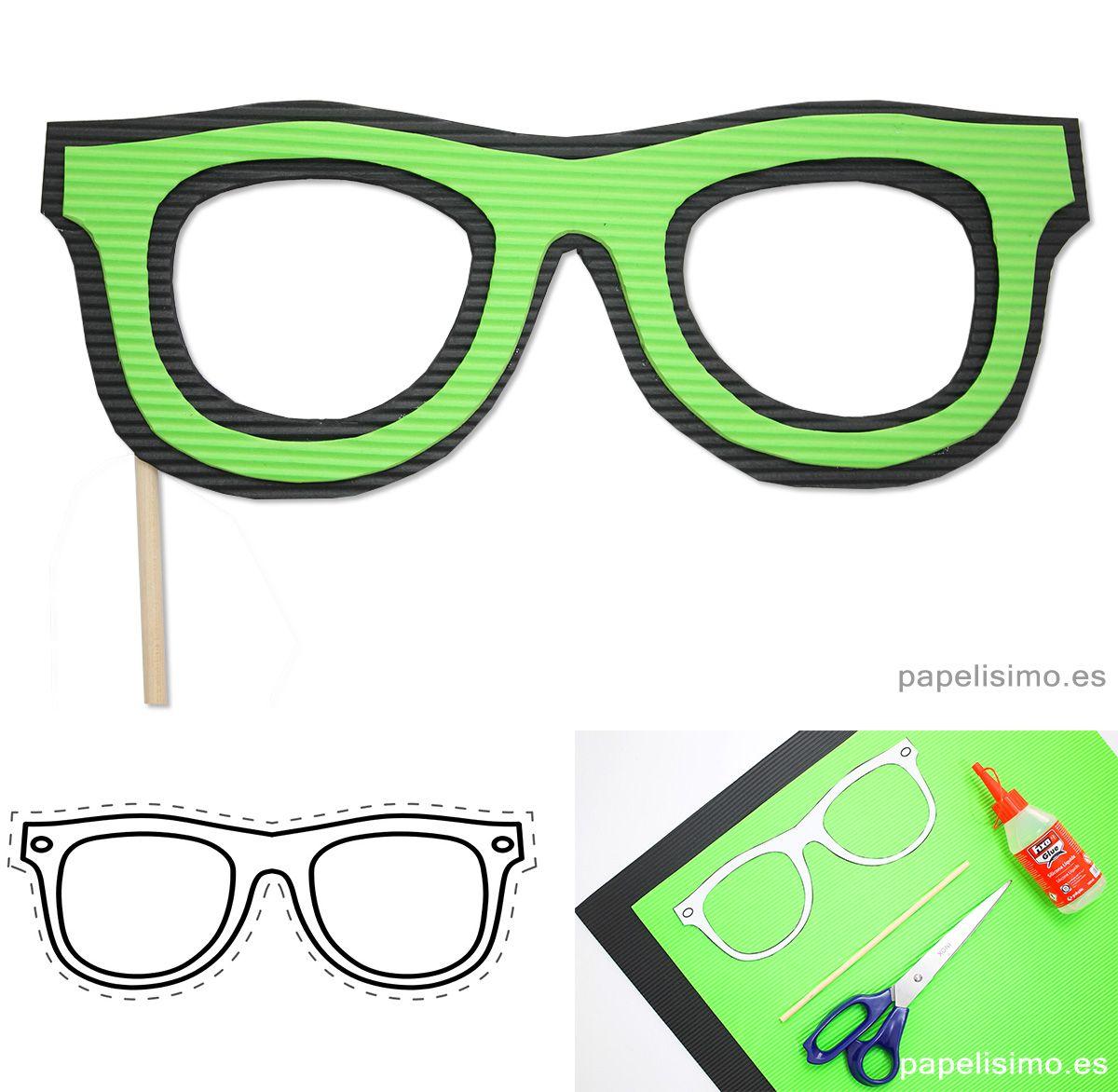 Cómo-hacer-gafas-de-goma-eva-plantillas-diy-glasses | photobooth ...