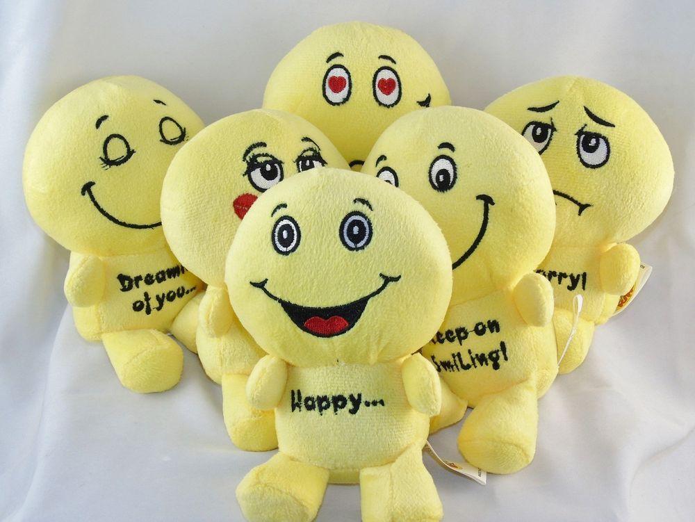 6 Emoji Plush Doll Pillow Toy W 6 Assorted Facial Expressions New Plush Dolls Emoji Pillows Cute Baby Dolls