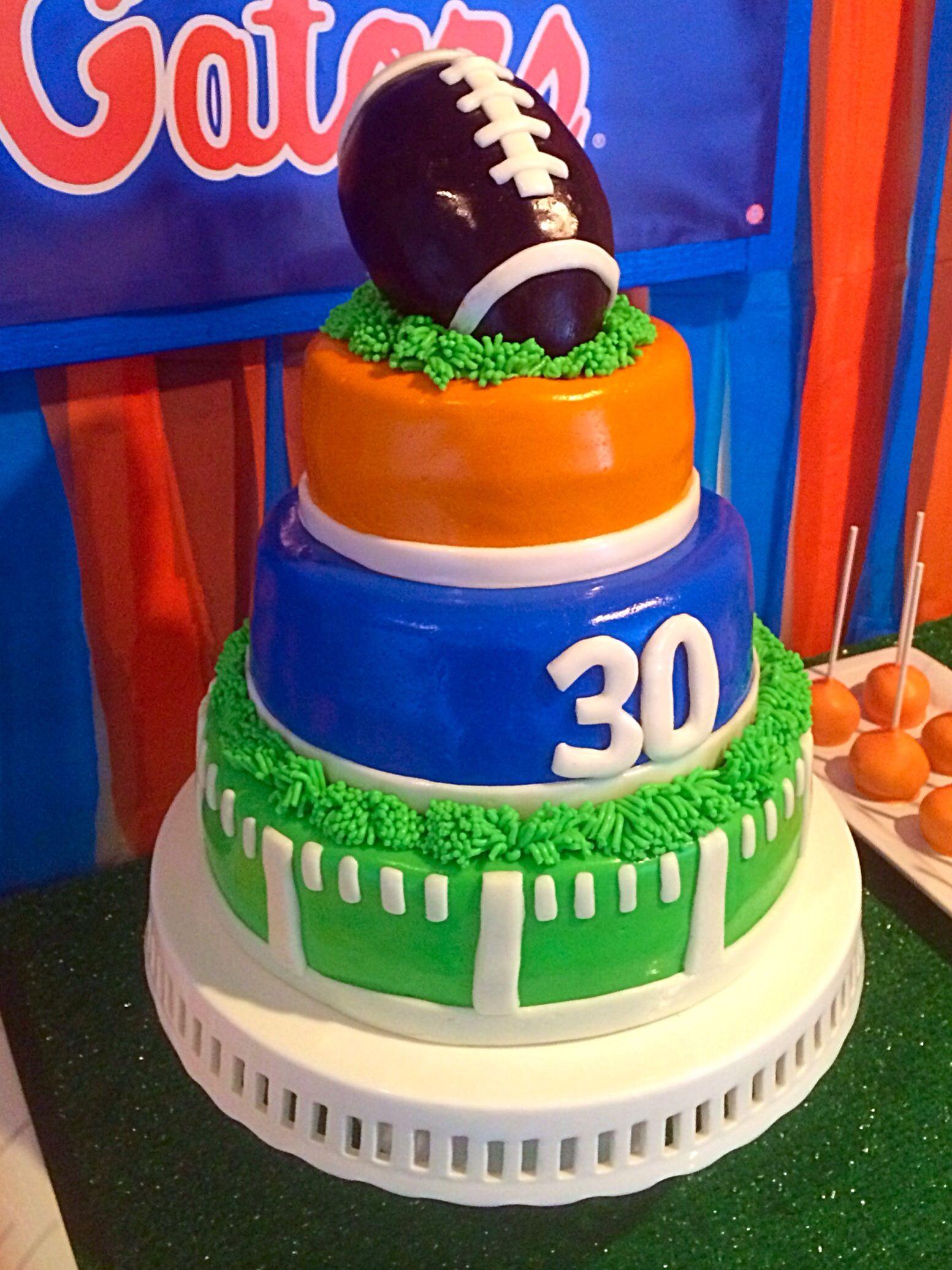Football Birthday Cake With Fondant Florida Gators 30th Birthday