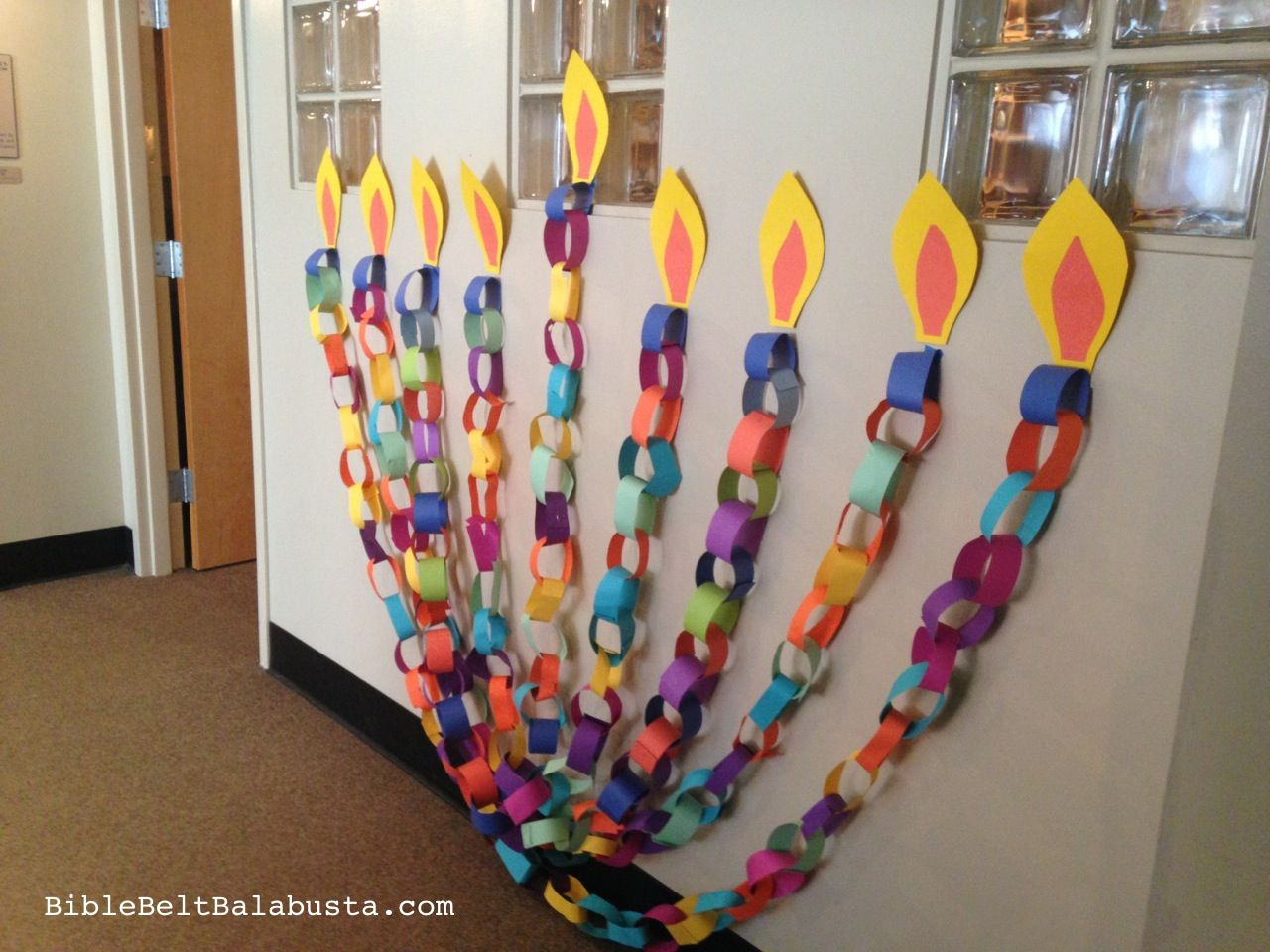 Paper Chain Menorah Made By Kids