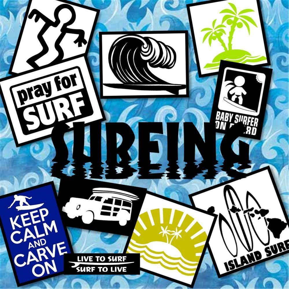 SURFING Vinyl Decals Surfing Sticker Vinyl Car Decal Car - Custom vinyl decals car windows