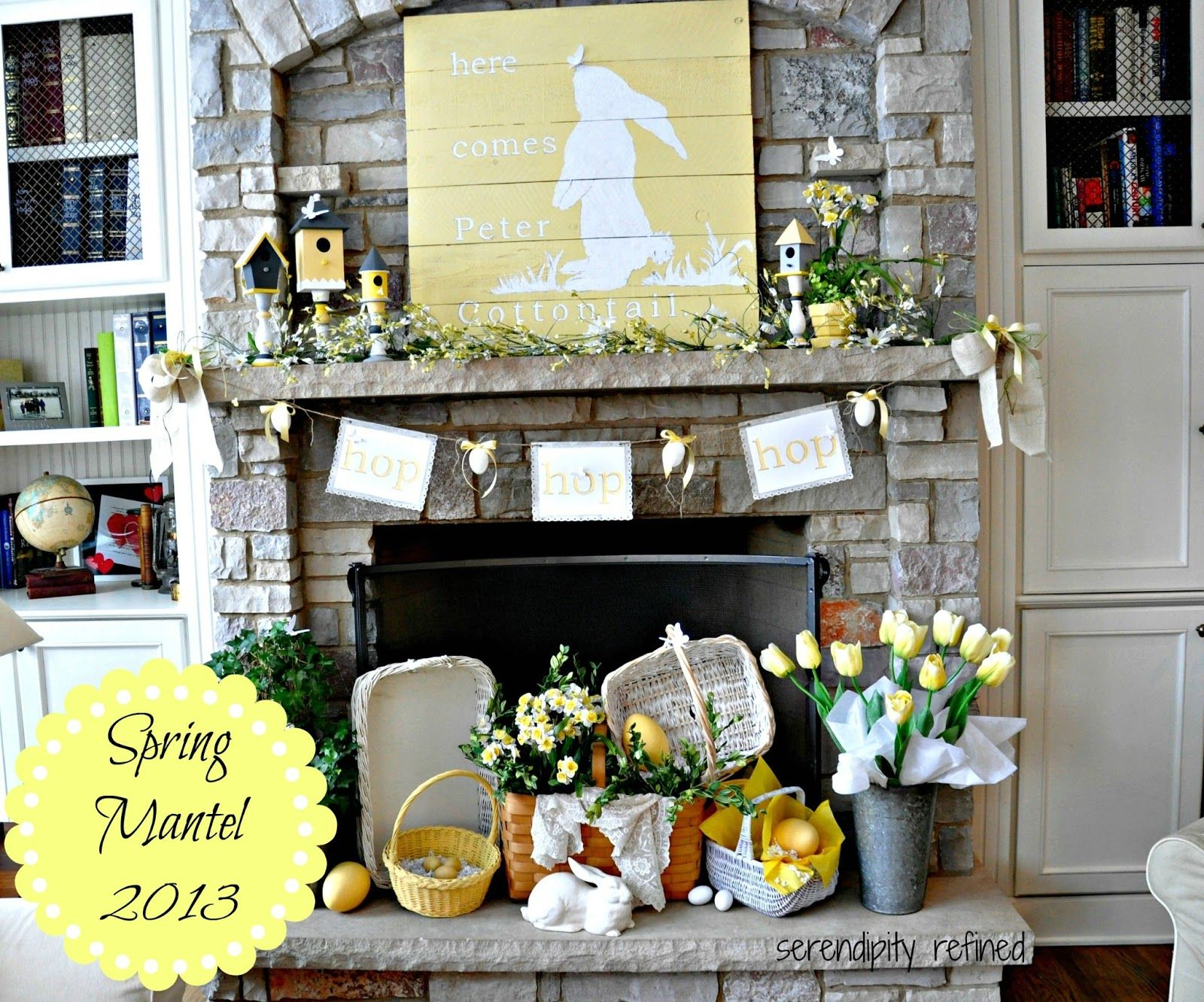 Here Comes Peter Cottontail Mantels Easter And