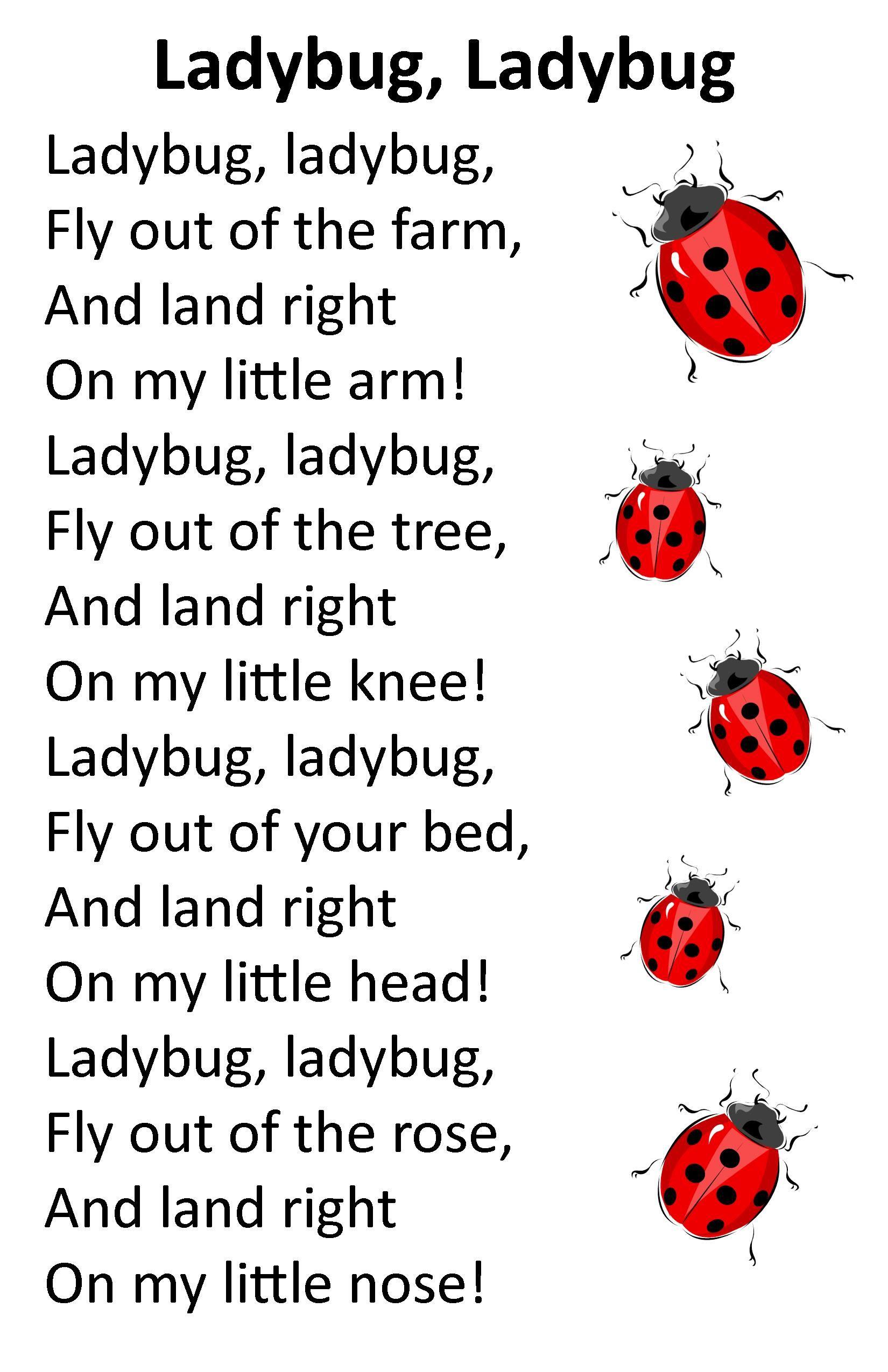 Itty Bitty Alphatykes Rhyme Ladybug Ladybug With Images