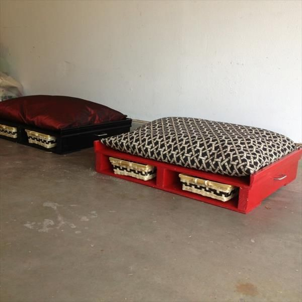 panier chien palettes 3 animaux pinterest bricolage lits pour chiens de palettes et toutous. Black Bedroom Furniture Sets. Home Design Ideas