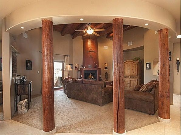 Western Style Living Room Like The Fire Place