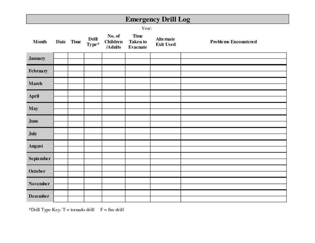 42 Printable Daycare Charts In
