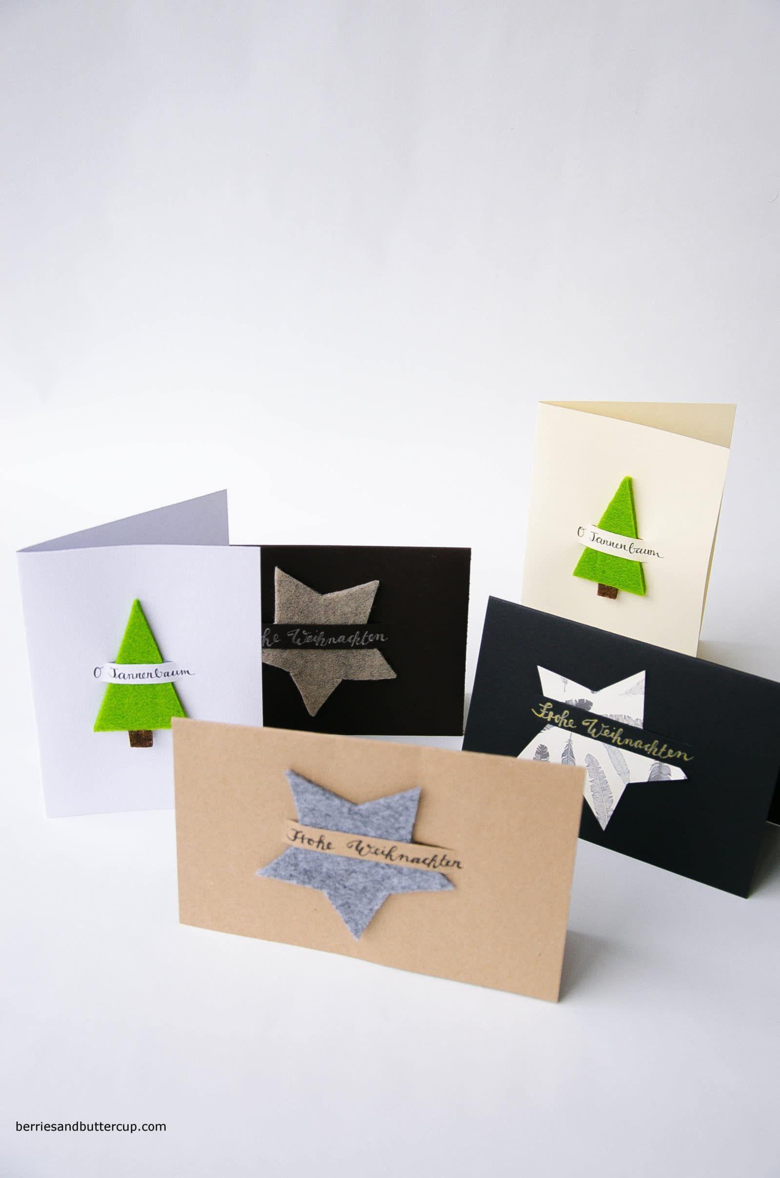 Grußkarten für Weihnachten selber machen - HANDMADE Kultur