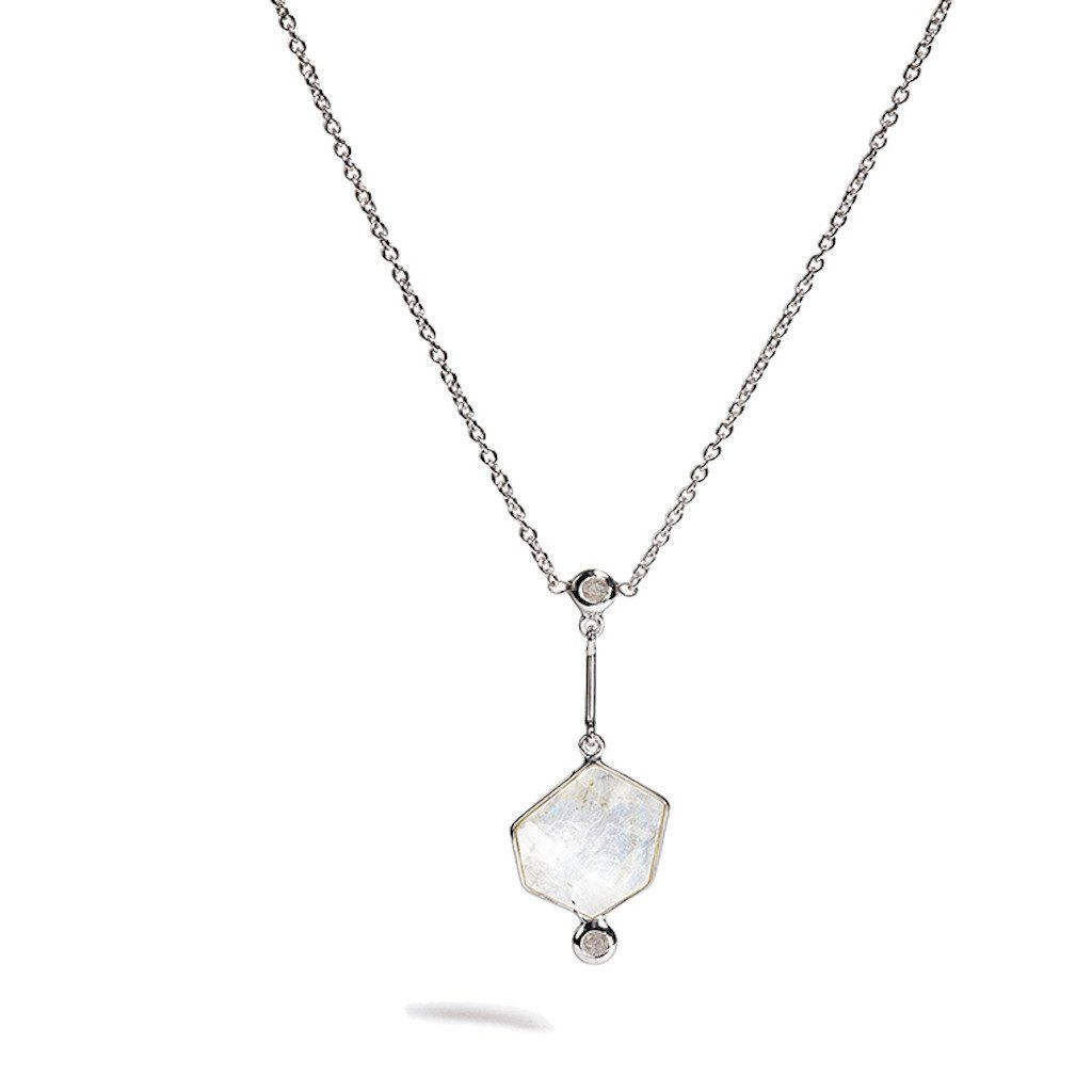 DUALITAS - Clea - Rainbow Moonstone Only Necklace
