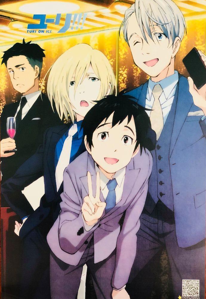 Japanese Anime Yuri!!! On Ice Poster #A2 Yuri Katsuki Victor Nikiforov Plisetsky