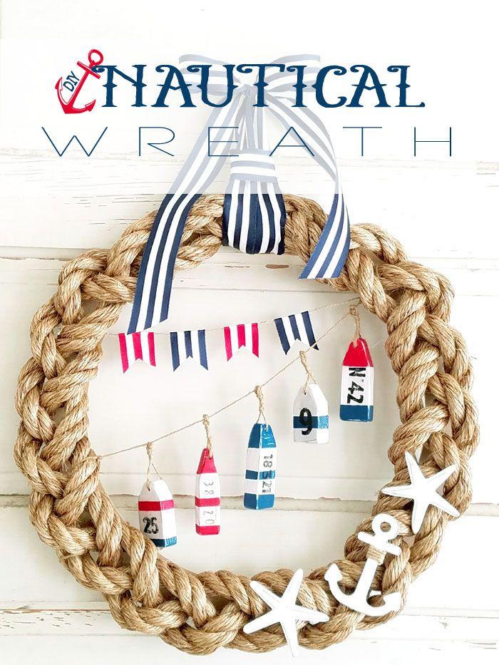 Nautical Wreath With Images Nautical Wreath Nautical Crafts