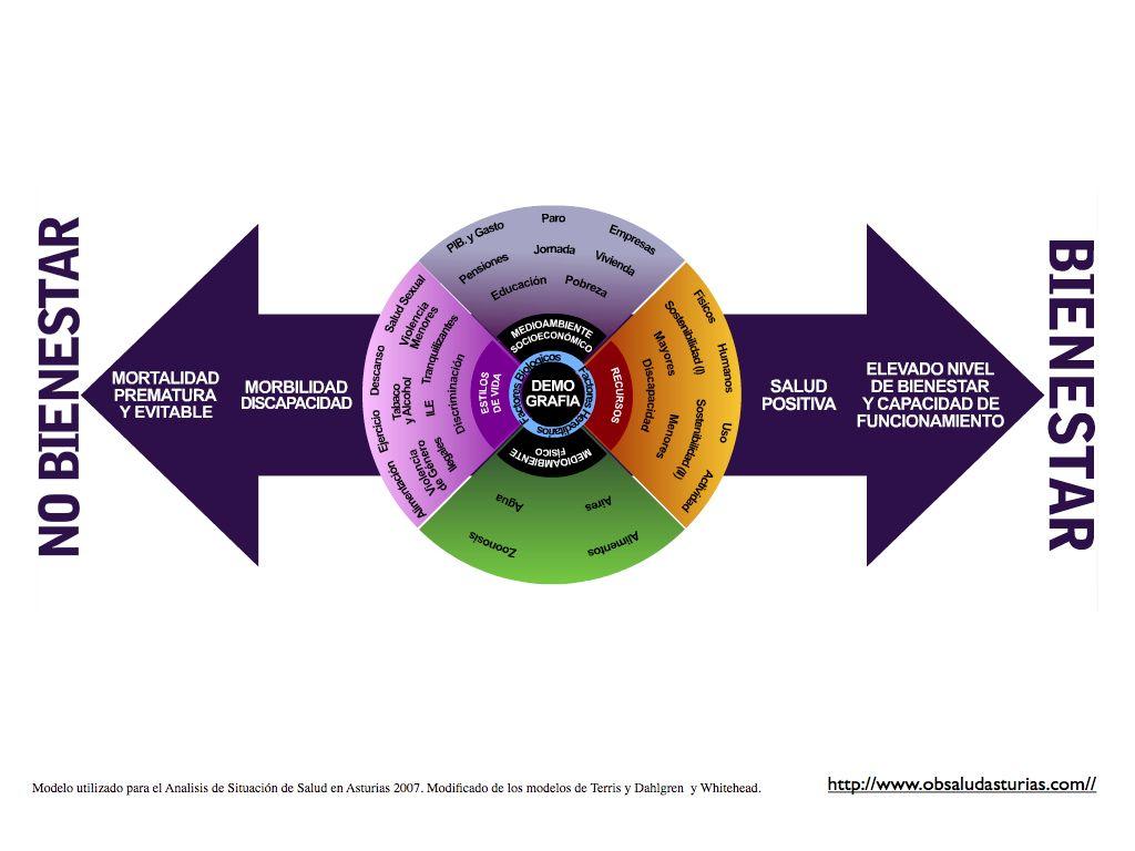Modelo Utilizado Para El Análisis De Situación En Salud De Asturias 2007 Modelo De Dahlgren Y Whitehead Terris Modificado Salud Salud Mental Bienestar