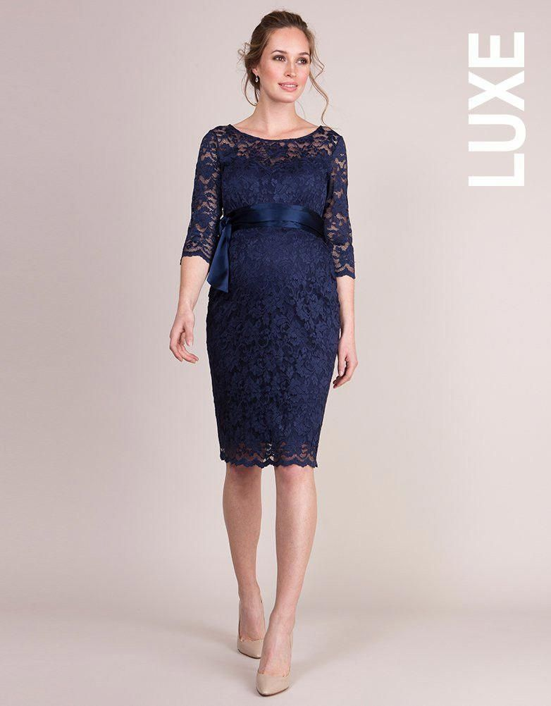 53cbe0effc24a Navy Blue Lace Maternity Cocktail Dress | Seraphine #pregnancyclothes. Find  this Pin and more on Pregnancy Clothes ...
